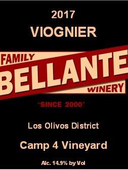 Bellante Family Winery - Viognier - Camp 4 Vineyard - 2017