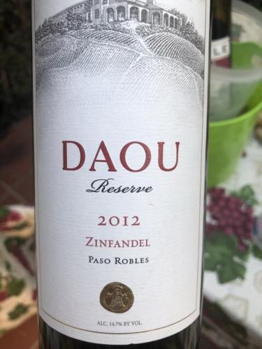 Daou - Reserve Zinfandel - 2012