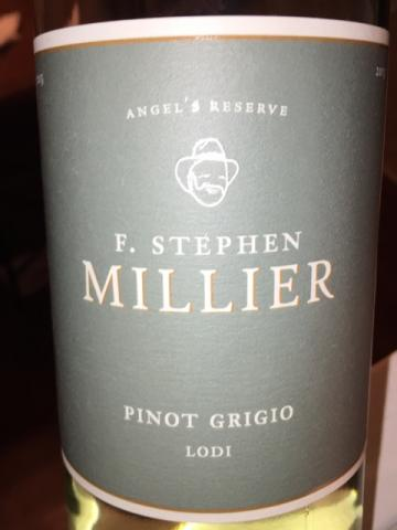 F. Stephen Millier - Angel's Reserve Pinot Grigio - 2015