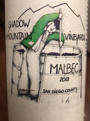 Shadow Mountain - Malbec San Diego County - 2013