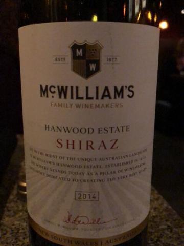 McWilliam's - Shiraz Hanwood Estate - 2014