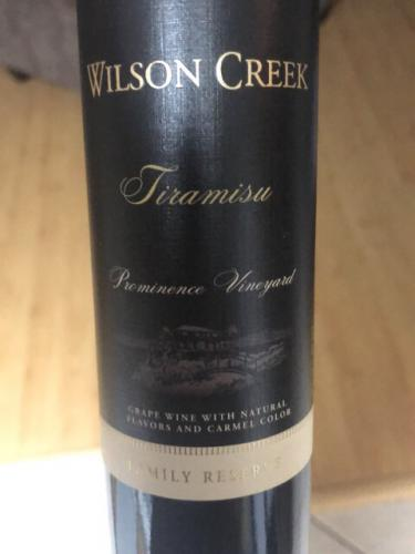 Wilson Creek - Family Reserve Prominence Vineyard Tiramisu - N.V.
