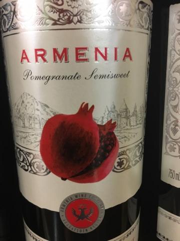 Armenia Wine - Pomegranate Semisweet - 2011