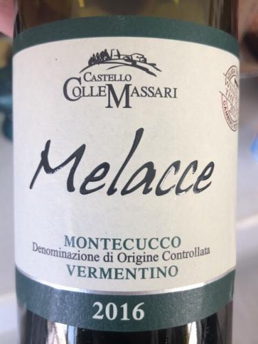 ColleMassari - Melacce Vermentino Montecucco - 2016