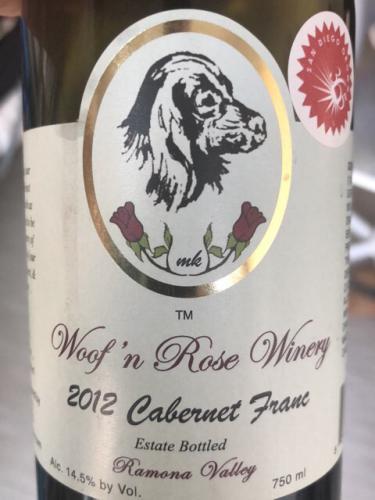 Woof n Rose - Cabernet Franc - 2012