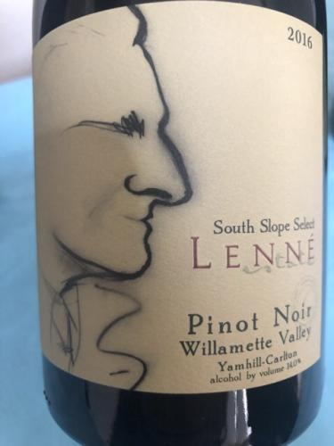 Lenné - South Slope Select Pinot Noir - 2016
