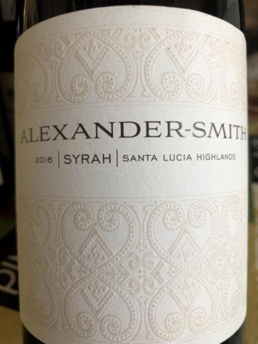 Alexander-Smith - Syrah - 2016
