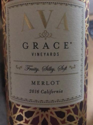AVA Grace - Merlot - 2016