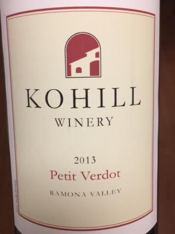 Kohill - Ramona Valley Petit Verdot - 2013