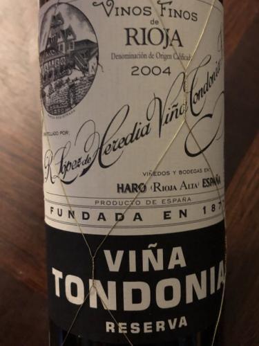 López de Heredia - Reserva - 2004