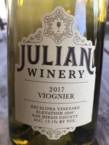 Julian Winery - Viognier - 2017