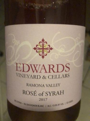 Edwards Vineyard & Cellars - Rosé of Syrah - 2017