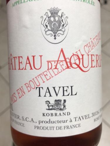 Château d'Aqueria - Tavel Rosé - 2015