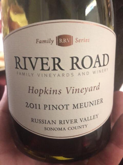 River Road - Hopkins Vineyard Pinot Meunier - 2011