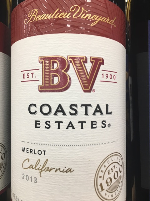 Beaulieu Vineyard (BV) - Coastal Estates Merlot - 2013