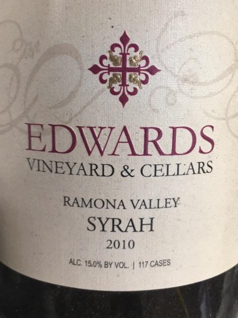 Edwards - Ramona Valley Syrah - 2010