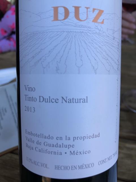 DUZ - Natural Dulce Tinto - 2013