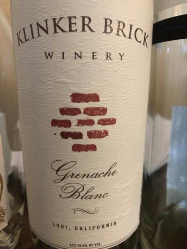 Klinker Brick - Grenache Blanc - 2017