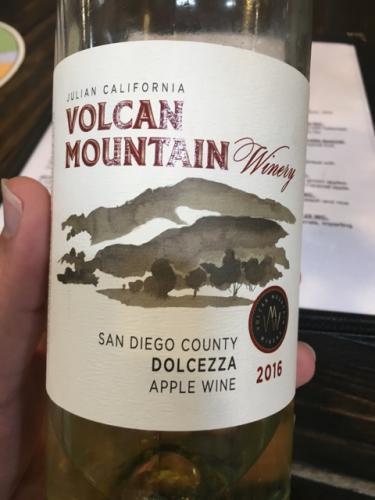 Volcan Mountain - Dolcezza Apple Wine - 2016