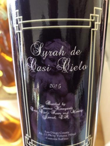 Casi Cielo Winery - Syrah de Casi Cielo - 2015
