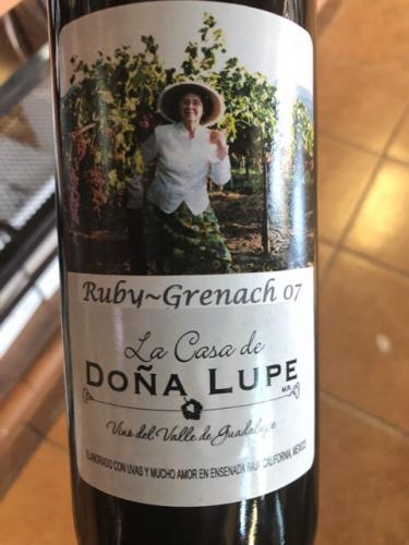 Casa de Dona Lupe - Ruby Grenache - 2007