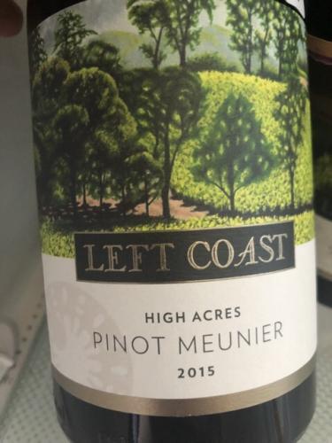 Left Coast Cellars - High Acres Pinot Meunier - 2015