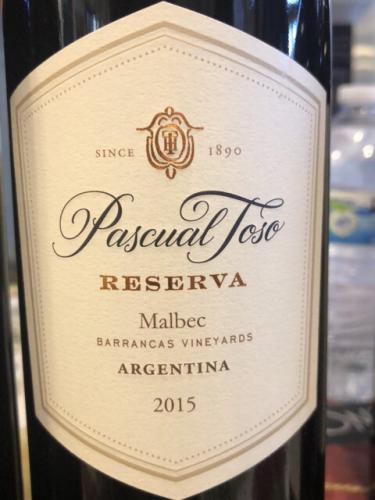 Pascual Toso - Reserva Malbec (Barrancas Vineyards) - 2015