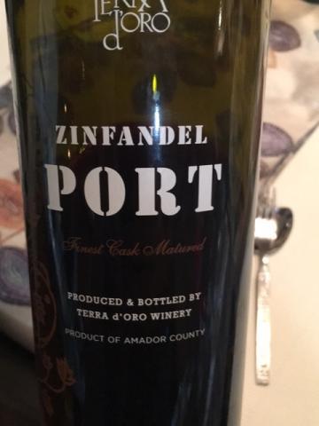 Terra d'Oro - Zinfandel Port - N.V.