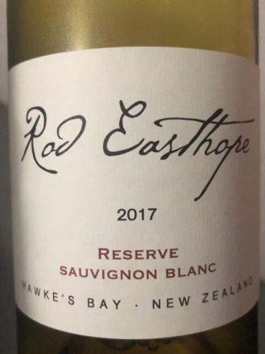 Rod Easthope - Reserve Sauvignon Blanc - 2017