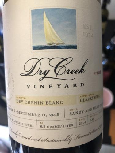 Dry Creek Vineyard - Dry Chenin Blanc (Wilson Ranch) - 2018
