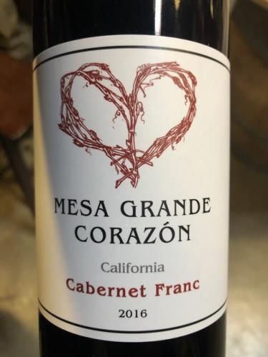 Mesa Grande Corazon - California Cabernet Franc - 2016