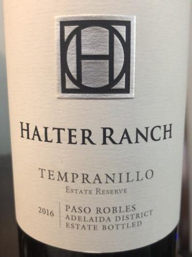 Halter Ranch - Estate Reserve Tempranillo - 2016