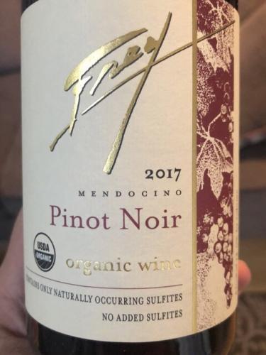 Frey - Organic Pinot Noir - 2017