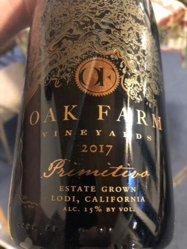 Oak Farm - Primitivo - 2017