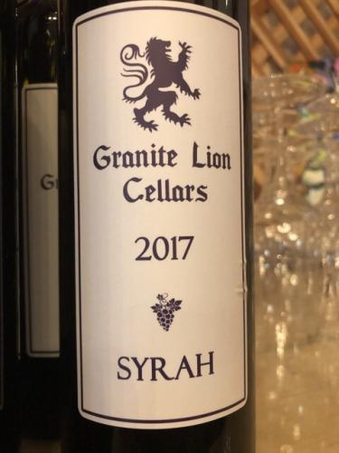 Granite Lion Cellars - Syrah - 2017