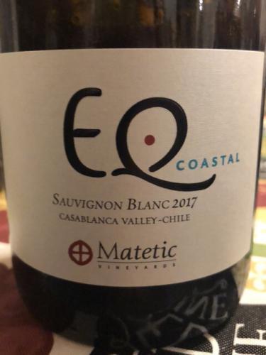 Matetic - EQ Coastal Sauvignon Blanc - 2017
