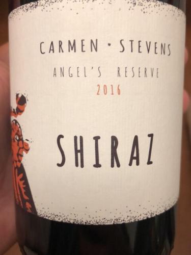 Carmen Stevens - Angel's Reserve Shiraz - 2016