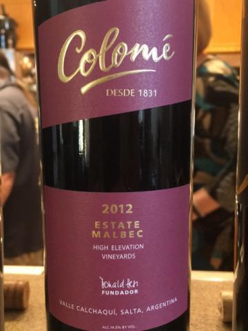 Colomé - High Elevation Vineyards Estate Malbec - 2012