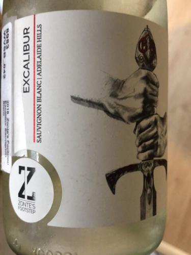 Zonte's Footstep - Excalibur Sauvignon Blanc - 2018