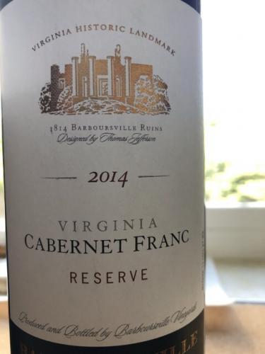Barboursville - Cabernet Franc Reserve - 2014